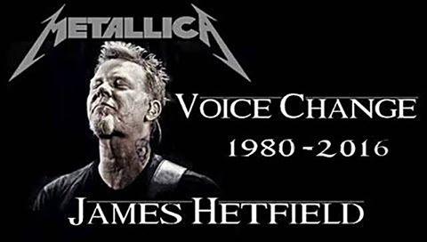 Cambios Vocales de James Hetfield (Metallica)1980-2016